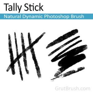 Tally Stick Photoshop Brush Toolset