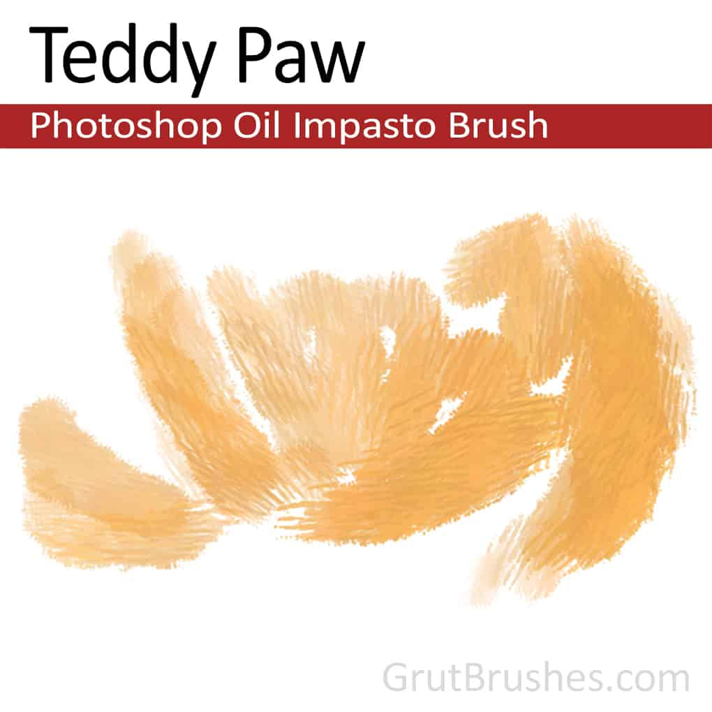 Teddy Paw - Impasto Oil Photoshop Brush