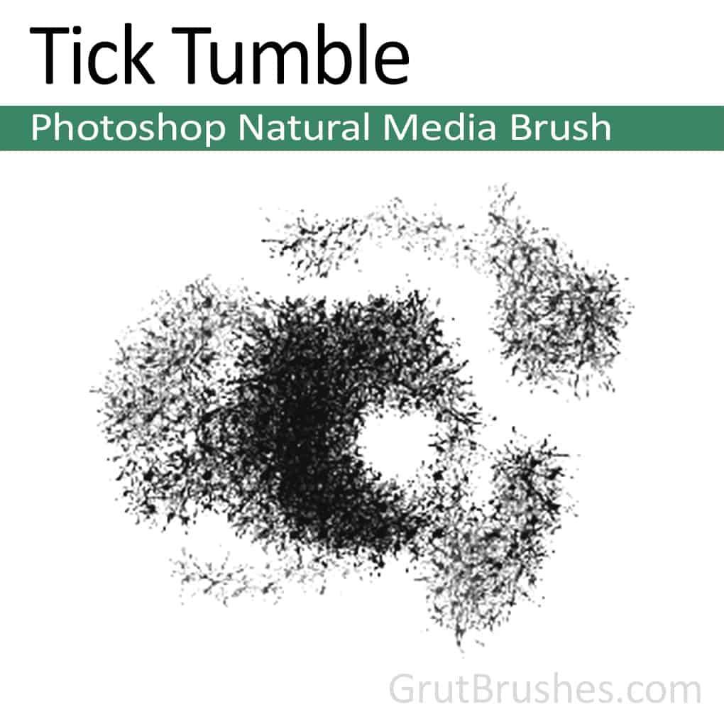 Photoshop Natural Media Brush 'Tick Tumble'