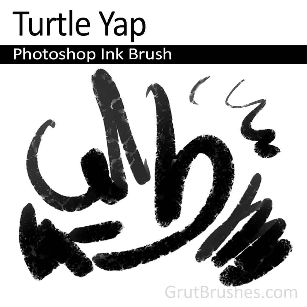 Photoshop Ink Brush 'Turtle Yap'