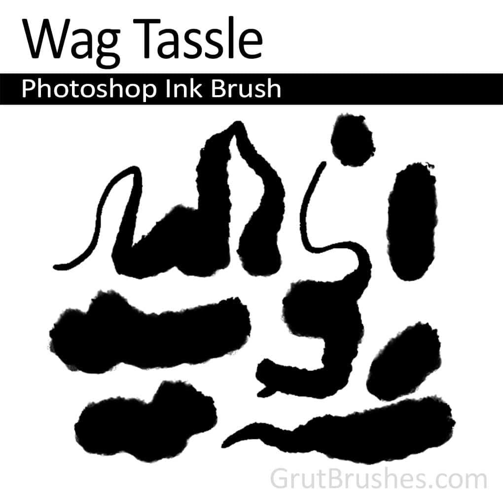 Photoshop Ink Brush 'Wag Tassle'