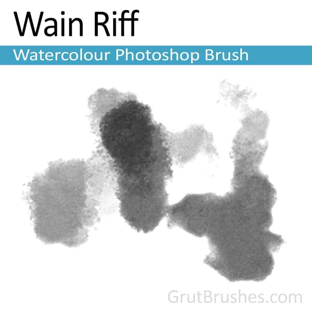 Photoshop Watercolour Brush for digital artists 'Wain Riff'
