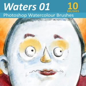 10 realistic watercolor brushes for Photoshop