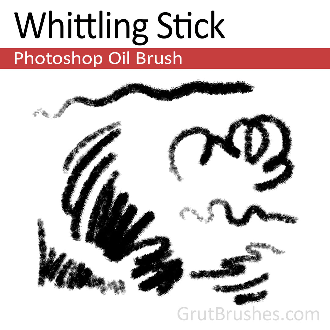 'Whittling Stick' Photoshop oil brush for digital painting
