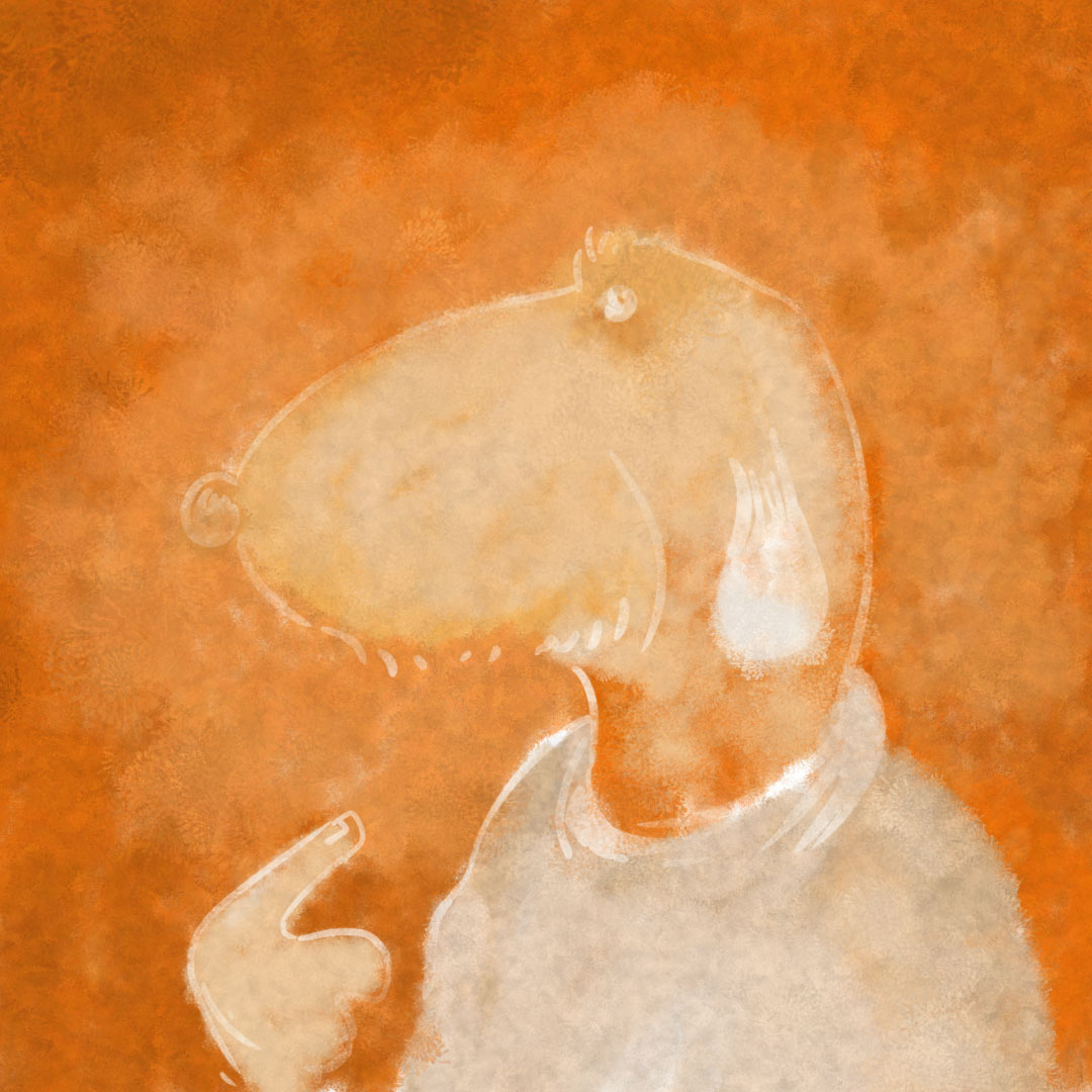 Painted with the Dusty Squid Photoshop Impasto Brush