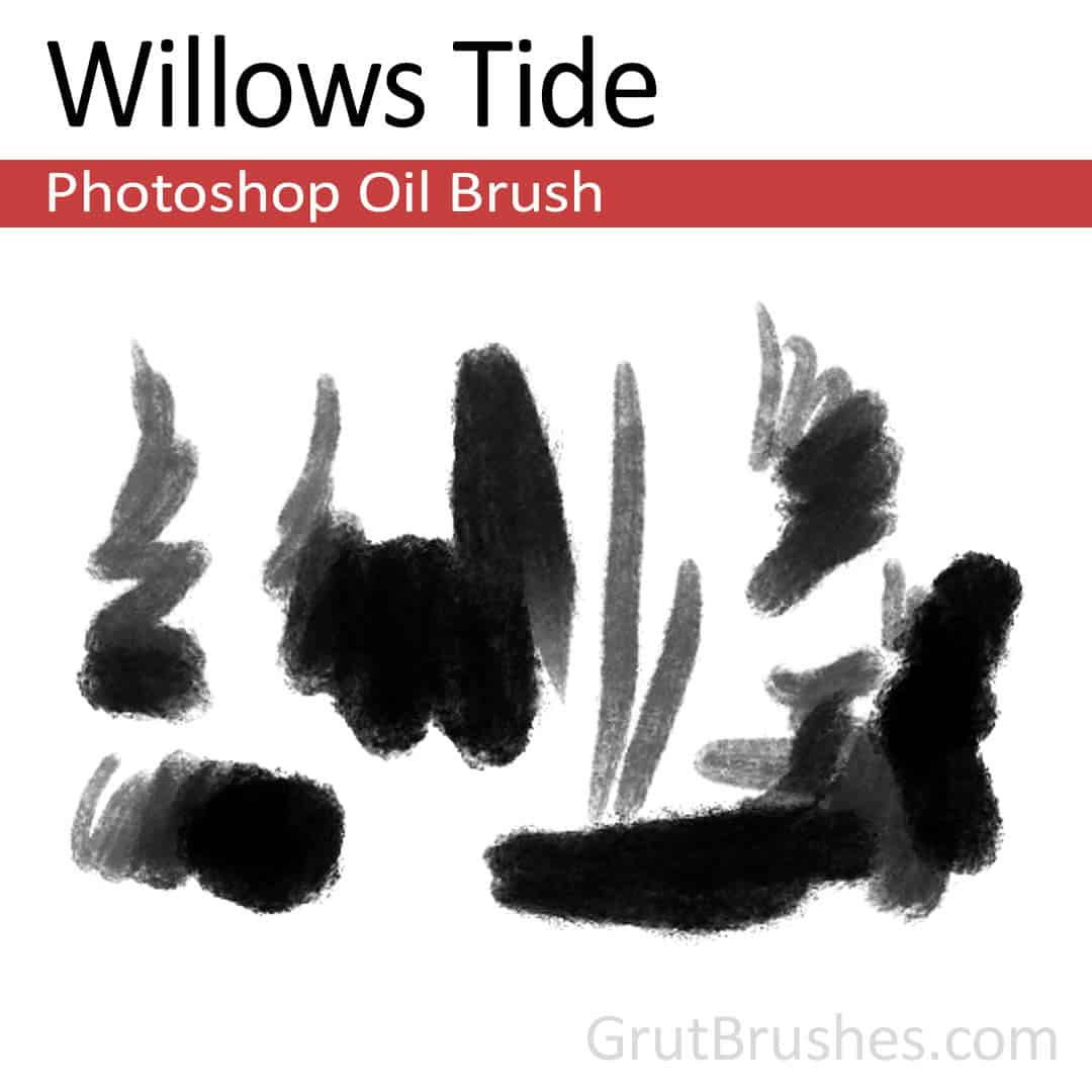 'Willows Tide' Photoshop oil brush for digital painting