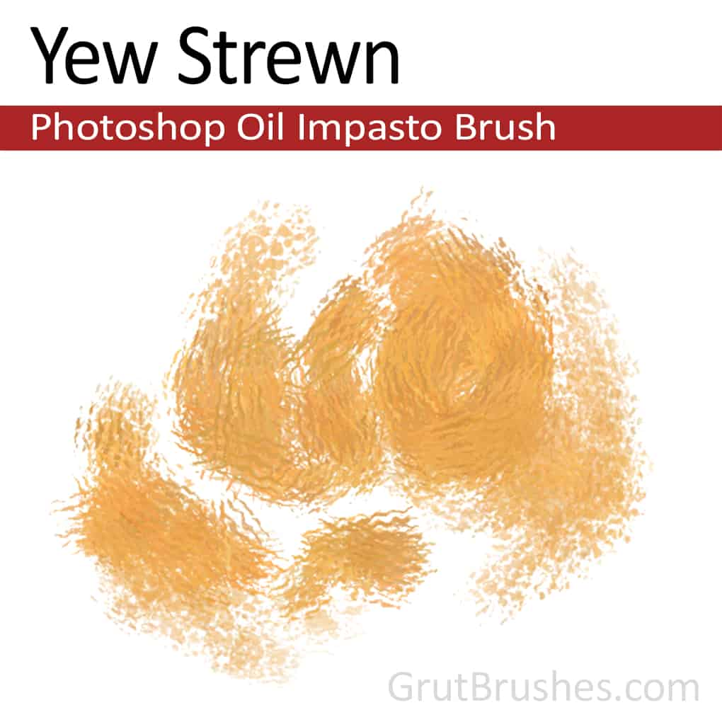 'Yew Strewn' Photoshop Impasto Oil Brush for digital artists