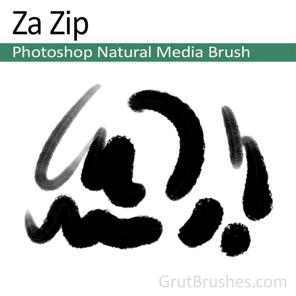 Photoshop Natural Media Brush 'Za Zip'