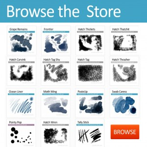 browse and download Photoshop Brushes