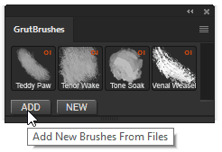 "Click ""add"" to install the paper texture tool"