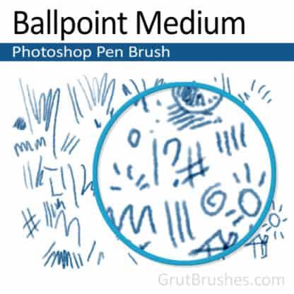 Ballpoint Medium - Photoshop Ink Brush
