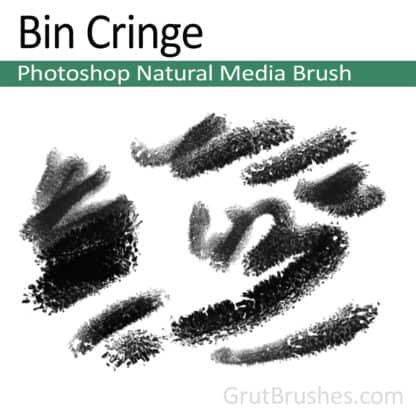 Photoshop Natural Media Brush for digital artists 'Bin Cringe'