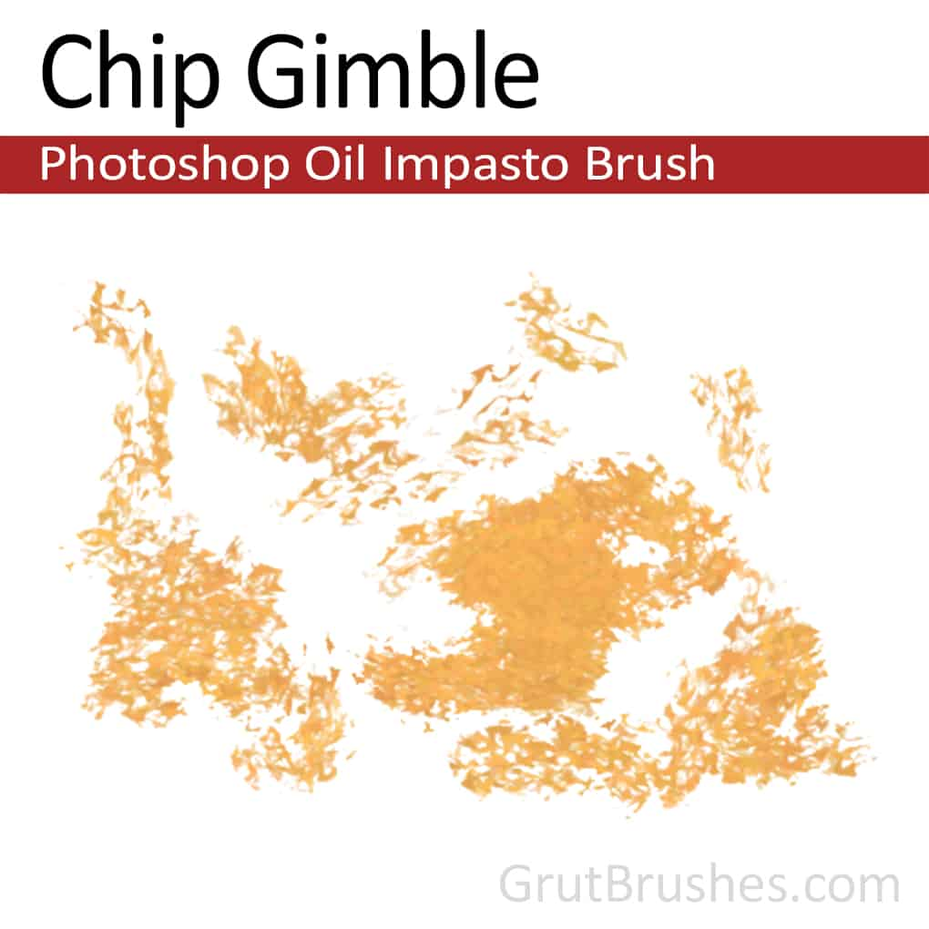 Photoshop Oil Impasto Brush for digital artists 'Chip Gimble'