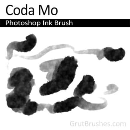 Photoshop Ink Brush for digital artists 'Coda Mo'