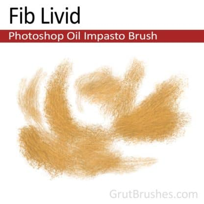 Photoshop Oil Impasto Brush for digital artists 'Fib Livid'