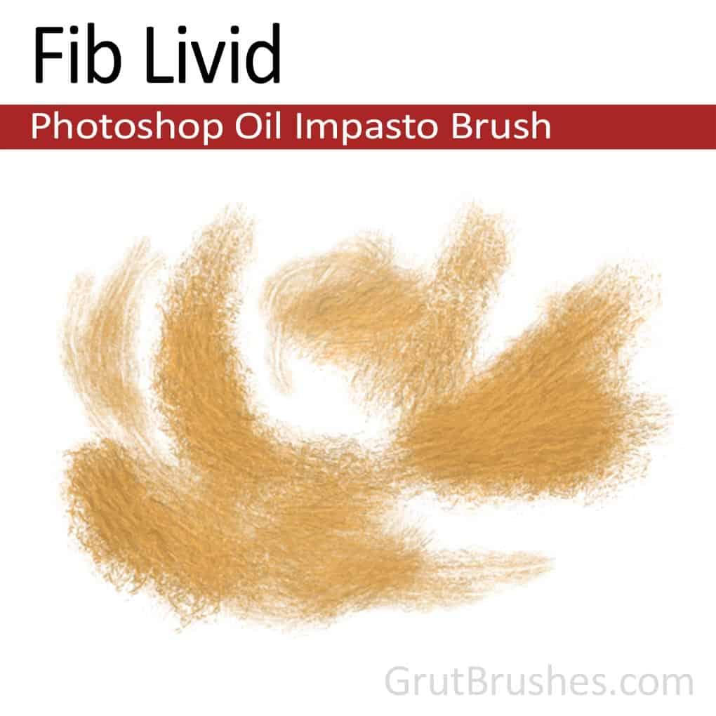Photoshop Oil Impasto Brush for digital artists 'Fib Livid'