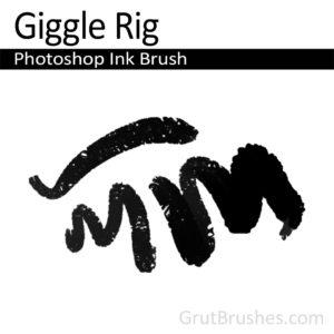 Photoshop Ink Brush for digital artists 'Giggle Rigg'