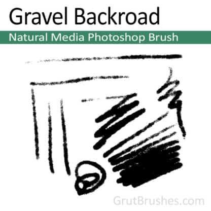 Gravel Backroad - Natural Media Brush