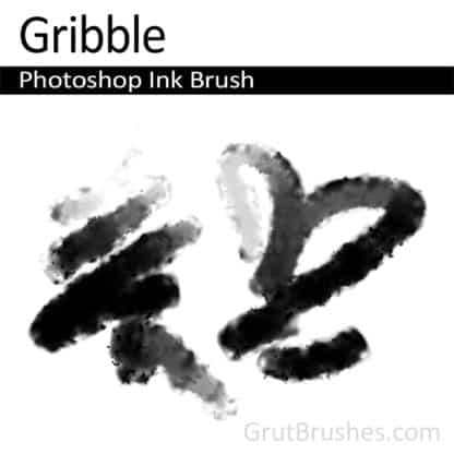 Photoshop Ink Brush for digital artists 'Gribble'