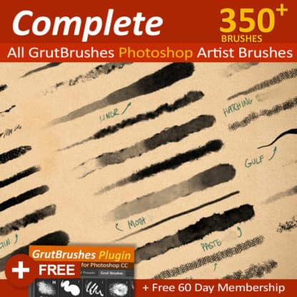 350 Photoshop brushes for digital artists