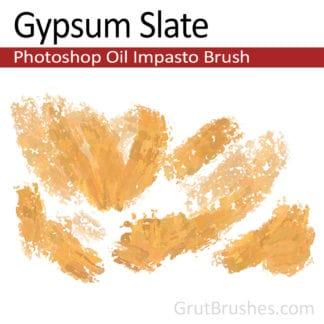 Gypsum Slate - Impasto Oil Photoshop Brush