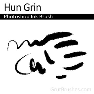 Photoshop Ink Brush for digital artists 'Hun Grin'