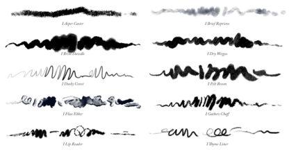 Inks 02 - Photoshop Ink Brushes