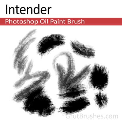 Photoshop Oil Brush for digital artists 'Intender'