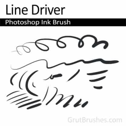 Photoshop Ink Brush for digital artists 'Line Driver'