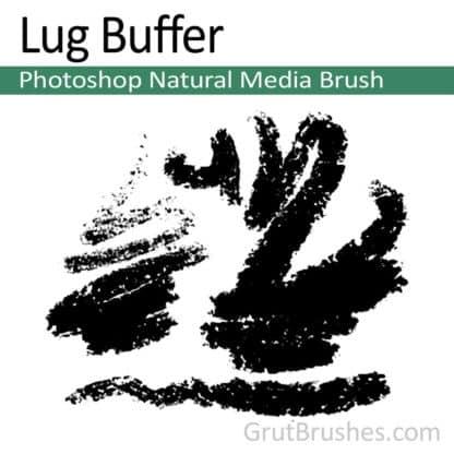 Photoshop Natural Media Brush for digital artists 'Lug Buffer'