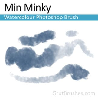Photoshop Watercolor Brush for digital artists 'Min Minky'