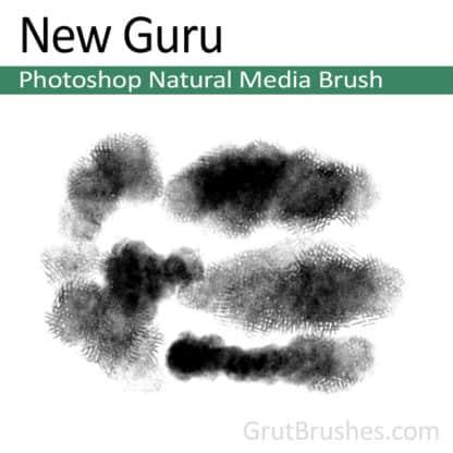 Photoshop Natural Media Brush for digital artists 'New Guru'