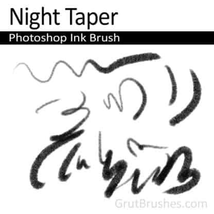 Night Taper - Photoshop Ink Brush