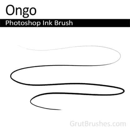 Photoshop Ink Brush for digital artists 'Ongo'