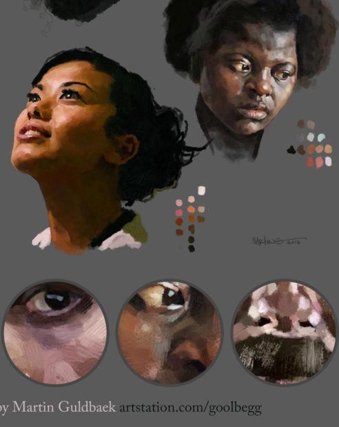 Photoshop-Oil-Impasto-Painting-Faces-detail-By-Martin-Guldbaek