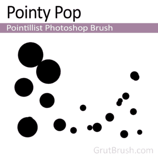 Pointy Pop - Pointillist Photoshop Brush