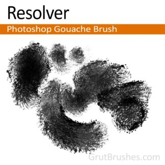 "Photoshop Gouache brush ""Resolver"""