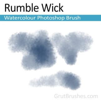 Photoshop Watercolor Brush for digital artists 'Rumble Wick'
