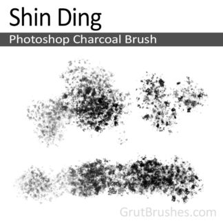 Photoshop Charcoal Brush for digital artists 'Shin Ding'