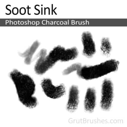 Photoshop Charcoal Brush for digital artists 'Soot Sink'