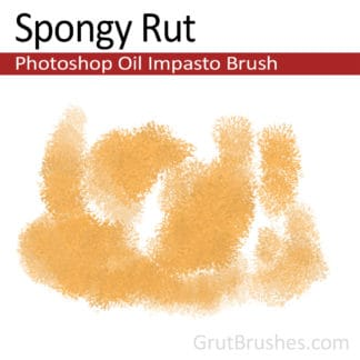 Spongy Rut - Photoshop Impasto Oil Brush