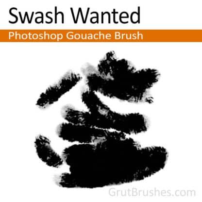 Swash Wanted - Photoshop Gouache Brush