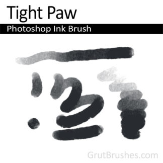 Photoshop Ink Brush for digital artists 'Tight Paw'