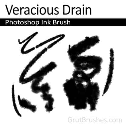 Veracious Drain - Photoshop Ink Brush