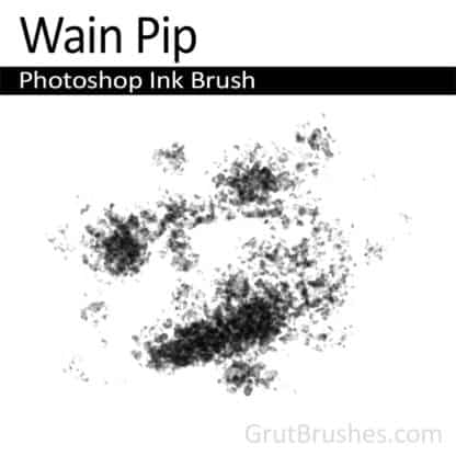 Photoshop Ink Brush for digital artists 'Wain Pip'