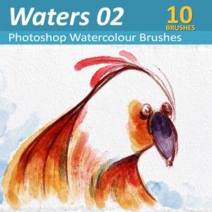Waters 02 - Ten Photoshop Watercolor Brushes