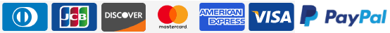 GrutBrushes accepts Discover mastercard american express visa and jcb diners card credit cards
