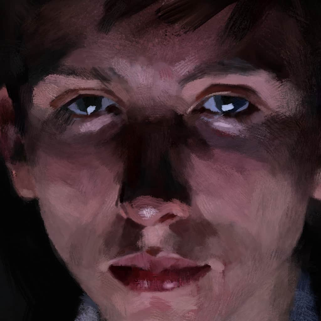 detail of boy light study by Martin Guldbaek