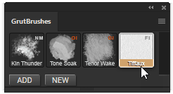 using the paper texture tool in the GrutBrushes plugin
